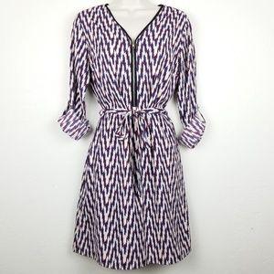 41 Hawthorn Dress Front Zip Tie Waist Sz S